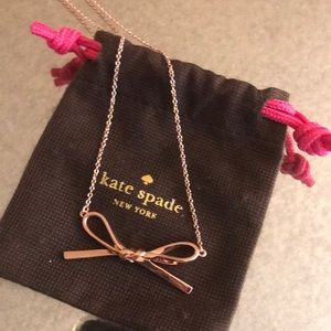 Kate Spade Classic Rose gold Bow Necklace